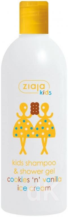 KIDS/MAZIAJKI Sprchový gél a šampón pre deti s vôňou vanilkovo-sušienkovej zmrzliny - Cookies vanilla ice cream