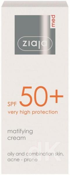 ZIAJA MED SPF50+ Matujúci pleťový krém 50 ml