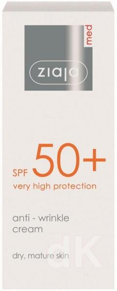 ZIAJA MED SPF50+ Protivráskový pleťový krém 50 ml
