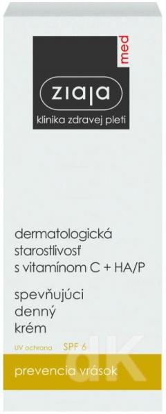 ZIAJA MED Dermatologická starostlivosť s vit.C+HA/P - Spevňujúci denný krém 50 ml