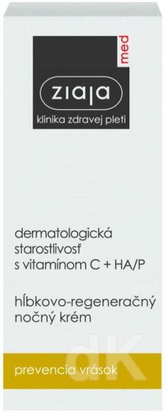 ZIAJA MED Dermatologická starostlivosť s vitamínom C + HA/P - Hĺbkovo-regeneračný nočný krém 50 ml
