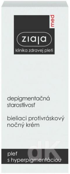 ZIAJA MED Depigmentačná starostlivosť - Bieliaci protivráskový nočný krém 50 ml