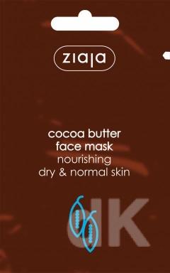 KAKAO Vyživujúca hydratačná pleťová maska s kakaovým maslom