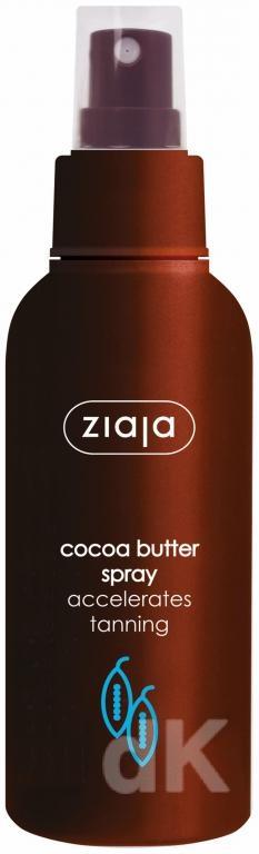 KAKAO Telový sprej na urýchlenie opálenia s kakaovým maslom