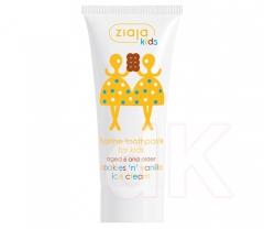KIDS/MAZIAJKI Zubná pasta pre deti s fluórom s vôňou vanilkovo-sušienkovej zmrzliny - Cookies vanilla ice cream